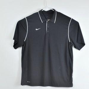 Nike dri fit polo golf shirt black xl